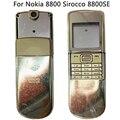 Новый 8800SE полный корпус для Nokia 8800 Sirocco крышка батареи рамка чехол с русской английской клавиатурой черный серебряный золотой