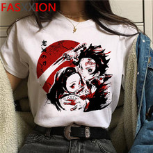 T-shirts de manga curta dos desenhos animados dos desenhos animados dos homens unissex kimetsu não yaiba bonito anime camiseta kawaii gráfico t camisa hip hop