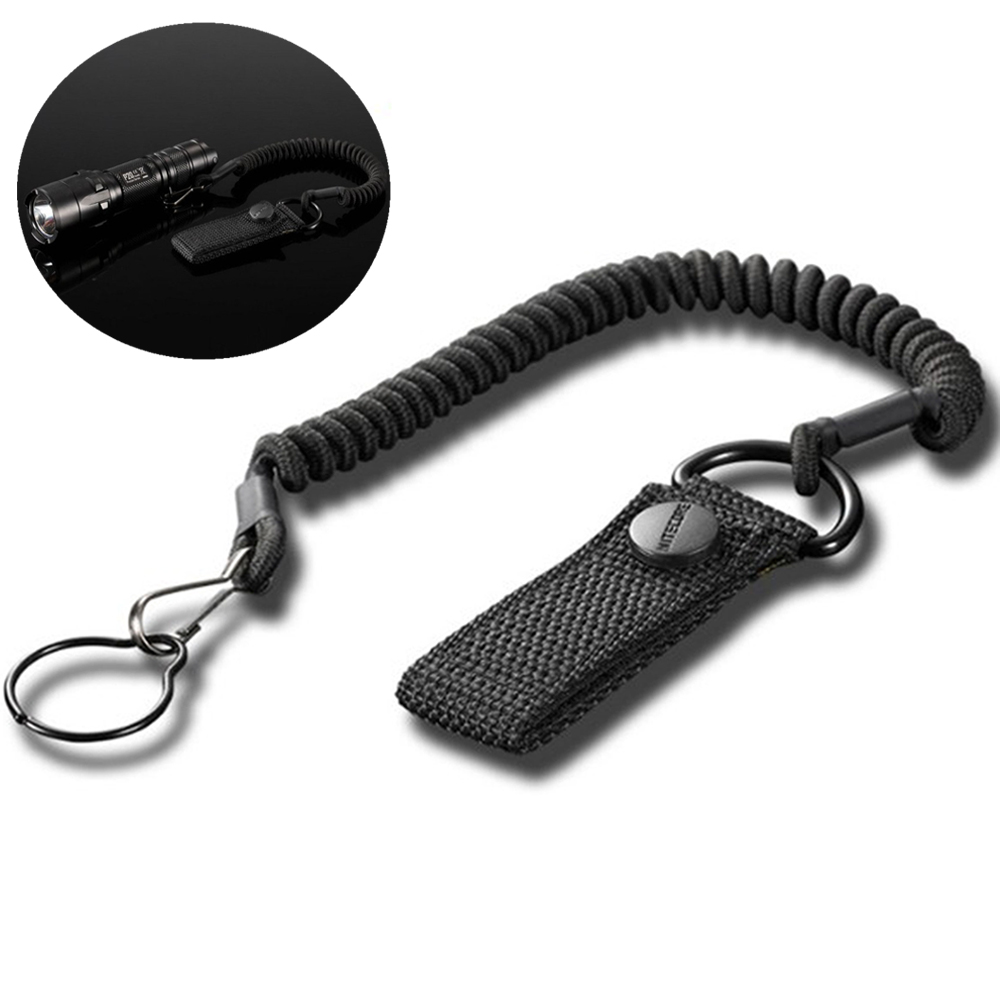 Combat Sling Telescopic Tactical Pistol Hand Gun Secure Lanyard Adjustable Spring Sling With Blet Buckle For Rifle Flashlight