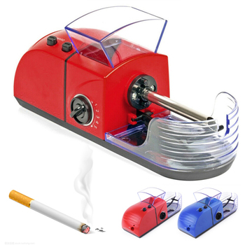 DIY elektryczna maszyna do papierosów automatyczna maszyna do zwijania papierosów wtryskiwacz Maker tytoń Roller narzędzie do palenia AC100V-240V tanie i dobre opinie CN (pochodzenie) Metal Lakier 16002515 electric automatic cigarette machine Metal + plastic Red Blue AC 100-240V About 205*75*65 mm