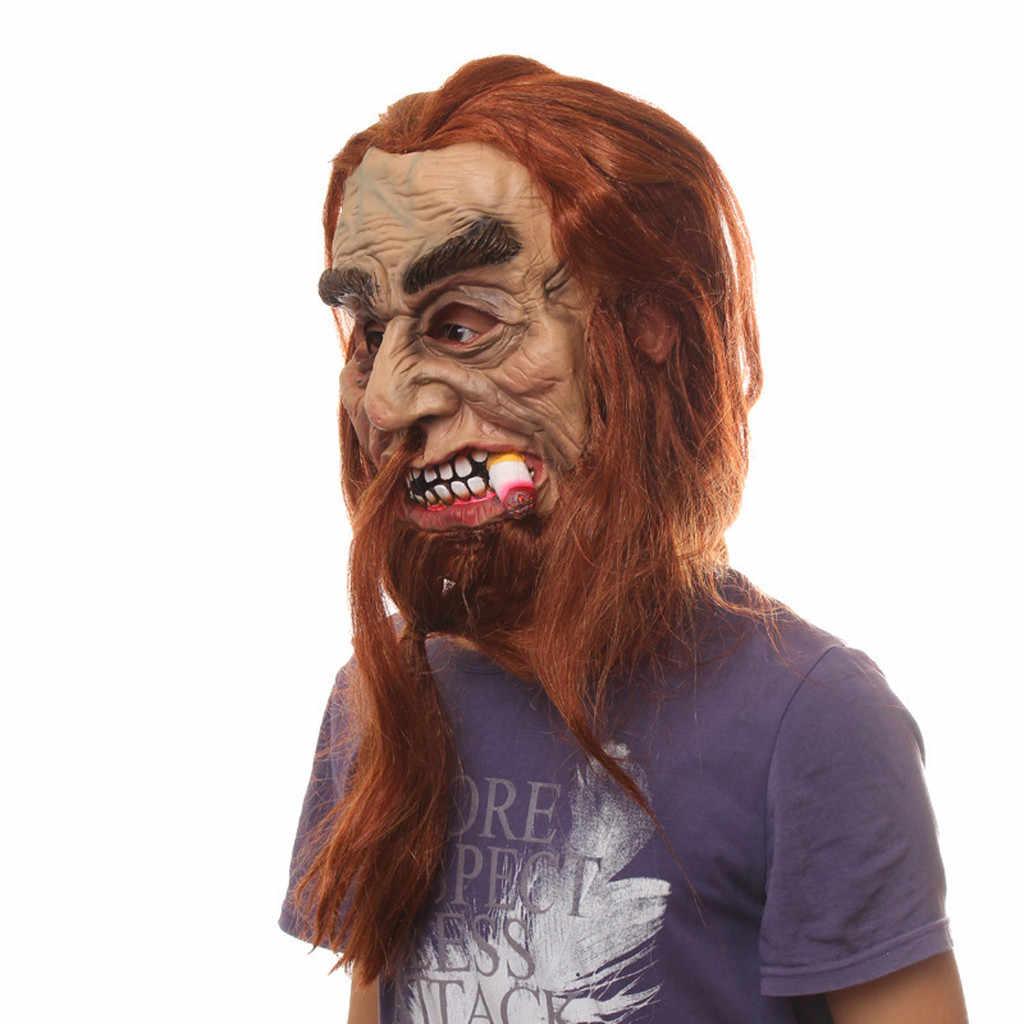 Маска тяжелый курильщик жуткая для Хэллоуина вечерние украшения дома с привидениями вечерние маска Хэллоуин, латекс маска Маскарадная маска 2019