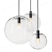 GZMJ Wonderland lámpara colgante de bola de cristal transparente, moderna, negra, lustre, LED, barra de bolas de cristal, cocina, alta calidad