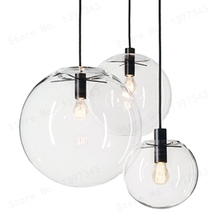 GZMJ Wonderland nowoczesny czarny przejrzysta szklana kulka wisiorek przekazanie lampa światła połysk LED szklana kulka Bar kuchnia wysokiej jakości