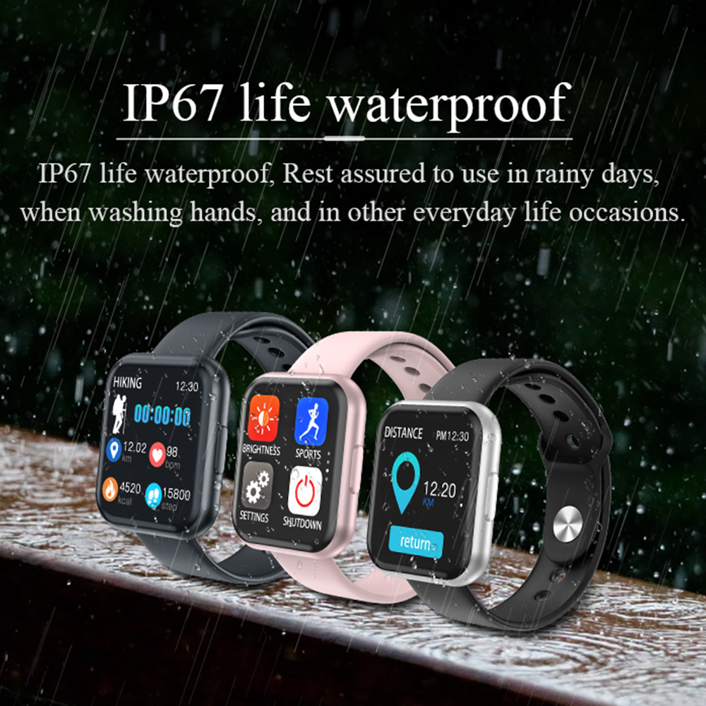 Smart Watch T88 Watches Men Sports SmartWatch for Women Fitness Tracker Bracelet Full Touch Screen Watch for Android Pk P70 Iwo