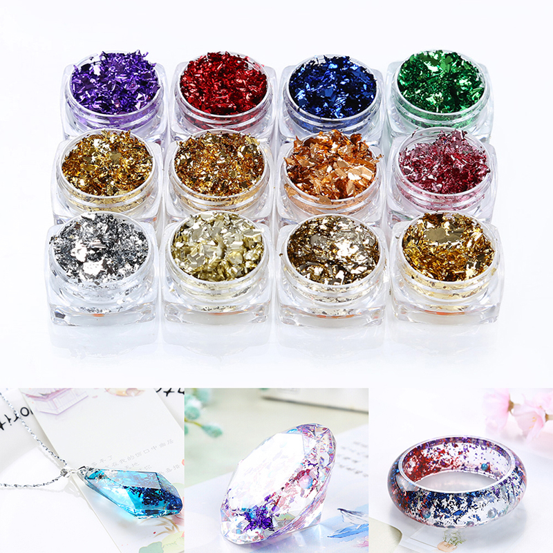 UV Resin Filling Glitter Accessories DIY Jewelry Making Epoxy Mold Crafts ToolJ.