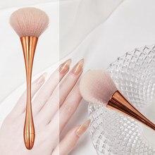 Escova acrílica da poeira do prego do polonês do gel para a limpeza rohwxy escova macia da poeira do prego para o design do manicure ferramentas da arte do prego