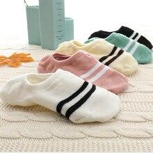 Новинка, женские носки, 5 пар забавных фруктов, Милые силиконовые Нескользящие носки, 35-40