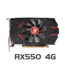 VEINEDA grafikkarte rx 550 4G AMD GDDR5 128bit 1183MHz 5000MHz 14nm DP DVI 512 einheiten 14nm rx550 4gb video karte