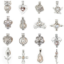 More Than 20 styles Pearl Cage Jewelry Findings Locket Pendant Essential Oil Diffuser For Oyster Women Girl
