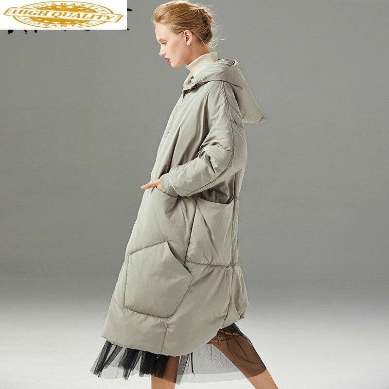 90% White Duck Down Jacket Women Clothes 2019 Winter Down Coat Women Hooded Korean Puffer Jacket Women Warm Parka 199027 YY2117