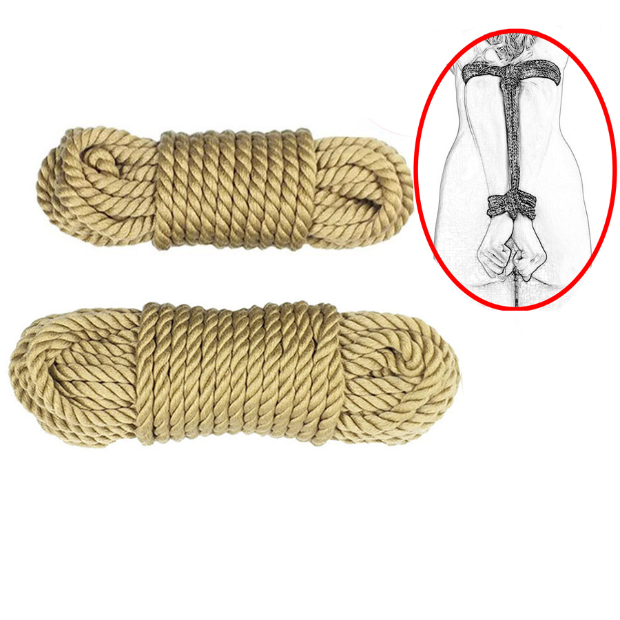 5M,10M Long Sex Slave Bondage Rope, Soft Cotton Knitted Rope ,Exotic BDSM Toys ,Roleplay Tip Up Shibari image