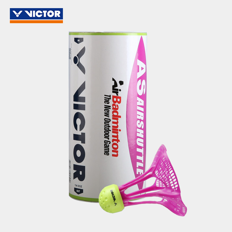 Novo original victor airshuttle badminton ao ar livre airshuttle bola de plástico náilon resistência estável 3 pacote/tubo