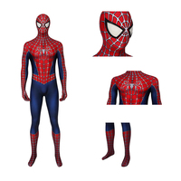 Anime Superhero Spider Man Bodysuit Halloween Cosplay Costume Adult Boy Girl Party Costume Soft Elastic Bodysuit Battle Suit