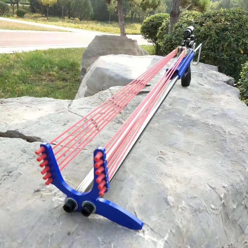 puxar 40 libra catapulta azul aco inoxidavel poderosa catapulta tiro ao ar livre caca tiro com