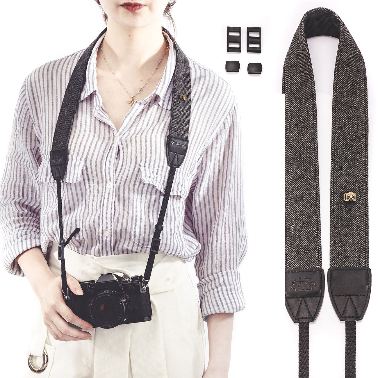 New Universal Camera Shoulder Neck Belt Strap For SLR DSLR Digital For Sony Nikon Canon Olympus Camera Lens Strap High Quality