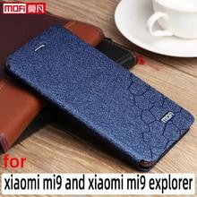 Etui z klapką do xiaomi mi9 etui xiaomi 9 explorer okładka stojak skórzany Mofi Xiaomi mi9 coque slim book luksusowy brokat xiaomi 9 etui