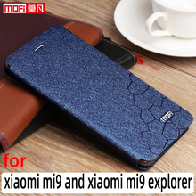 Flip case xiaomi mi9 kılıf xiaomi 9 kapak deri Mofi Xiaomi 9 coque flip case ince kitap standı lüks glitter xiaomi 9