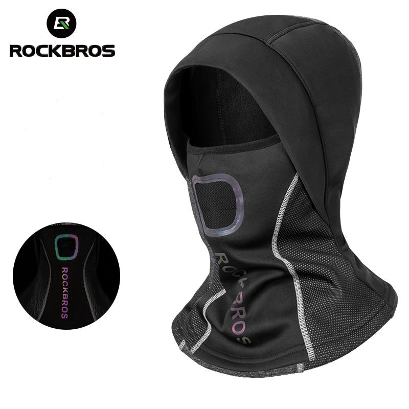 ROCKBROS Winter Cycling Cap Fleece Thermal Keep Warm Windproof Cycling Face Mask Balaclava Ski Mask Fishing Skiing Hat Headwear