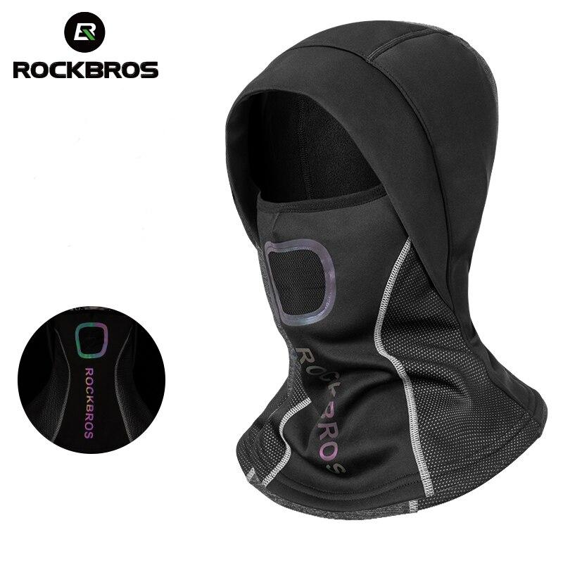 ROCKBROS Winter Radfahren Kappe Fleece Thermische Warm Halten Winddicht Radfahren Gesicht Maske Balaclava Ski Maske Angeln Skifahren Hut Headwear