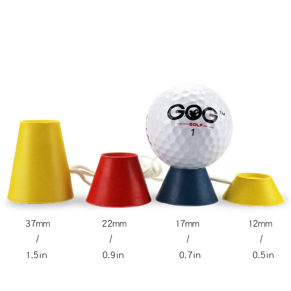 4 In 1 Different Heights Golf Tees Golf Winter Rubber Tee With Rope Golf Ball Holder Drop Ship