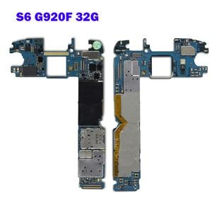 Image 3 - Placa base para teléfono Samsung Galaxy S6 edge G925F, 32GB, 64GB, desbloqueo completo con Chips completos, placa lógica IMEI OS