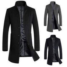 Puimentiua Vintage Blazer Coats Men High Quality Business Jackets Casual Stand Collar Long Sleeve Slim Outwears