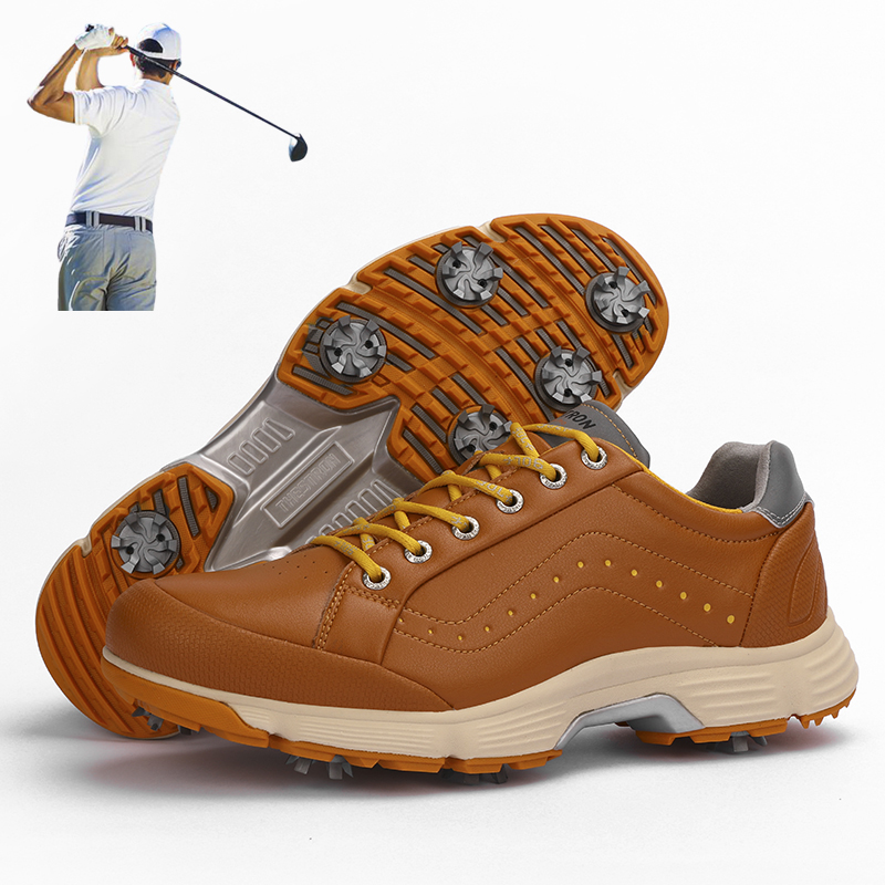 2021 Spring New Outdoor Golf Sports Shoes Professional Rotating Buckle Sole Grass Golf Training Shoes Men's Plus Size Golfers