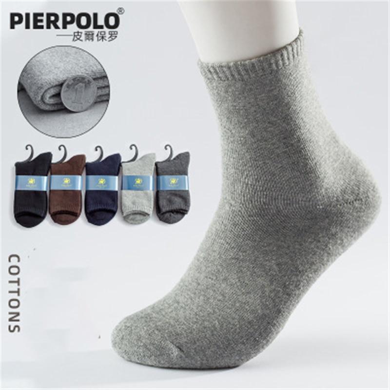 Pierpaul утолщенные теплые носки мужские зимние мужские махровые носки из чистого хлопка короткие мужские удобные махровые носки 5 пар 39-44