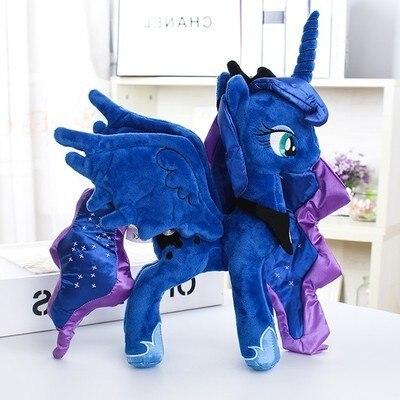 "Unicorn Princess Luna Nightmare Night  Plush Horse Action Toy Figures 12"" 30 CM"