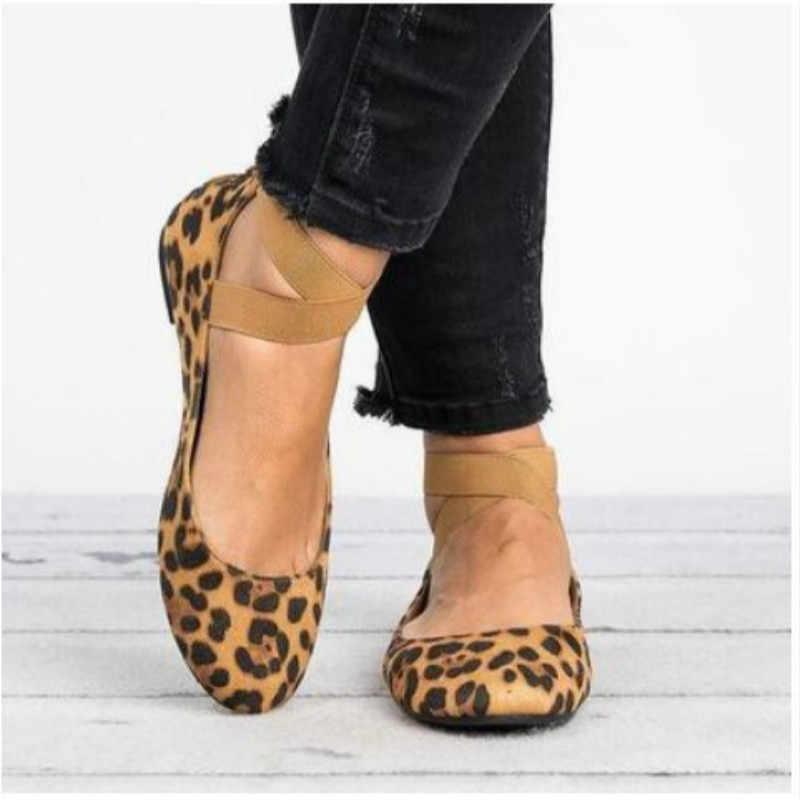 HKXN Flat Shoes Elastic Lace Gym Flat