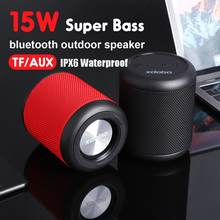 15w Mini Bluetooth Speaker TWS Speakers IPX6 Wireless Portable Sounbar Subwoofer with 360 Degree Surround Sound, Voice Assistant(China)