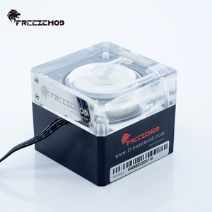 Image 4 - FREEZEMOD bilgisayar soğutma pc su soğutucu dilsiz pompa PWM akıllı akış 800L/H 12V/5V RGB ışık aure. PU FS4M J