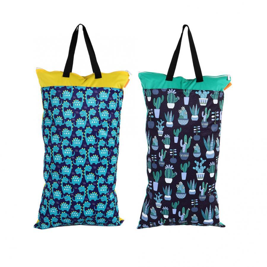Waterproof Double Zip Large Wet Bag Blue Boats 40x70cm