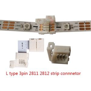5 ~ 500 набор l-образных 2pin 3pin 4pin 5pin 6pin светодиодный коннектор для подключения углов под прямым углом 5050 RGB RGBW 3528 ws2812 светодиодный