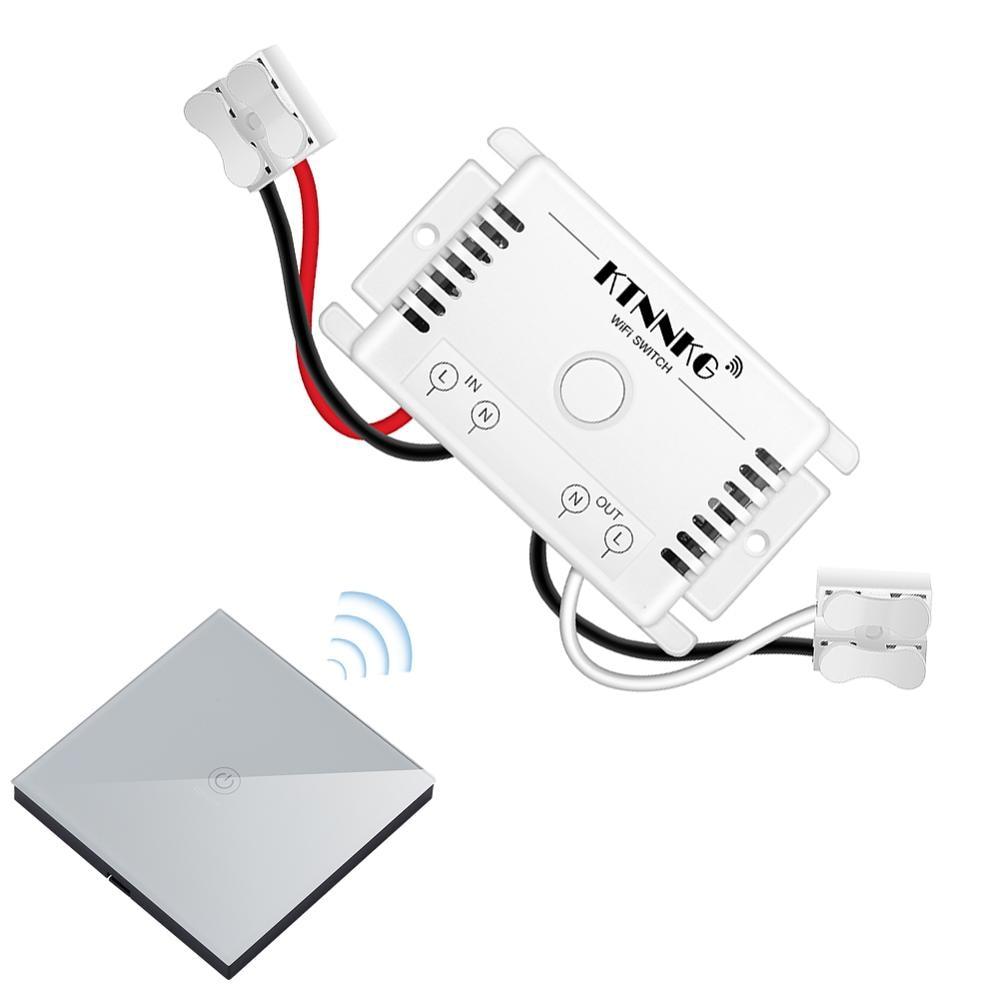 Wireless Light Switch Remote Control Wall Mounted Smart Home Gadget KTNNKG