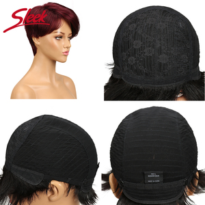 Image 5 - 洗練されたブラジル人毛ウィッグ 100% レミー赤黒人女性のためのブラウンフル機格安ウィッグ妖精カットかつら高速