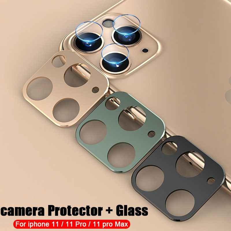 iPhone 11 Pro Max Back Camera Lens Tempered Glass Film Metal Protection Ring Screen Protector 1