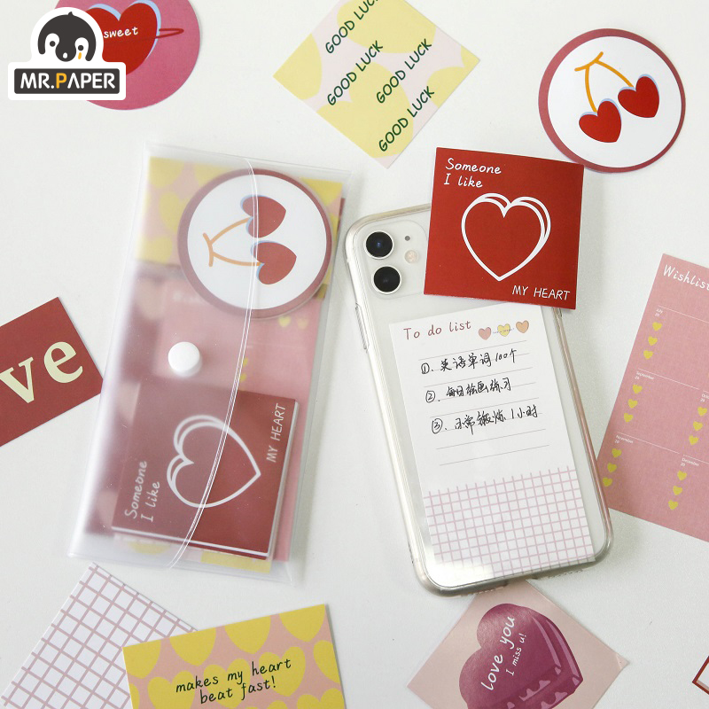 Mr.paper 4 Designs Garden Party Korea Cute Letter Scrapbooking/Card Making/Journaling Project DIY Retro Hangtag With Hole Cards