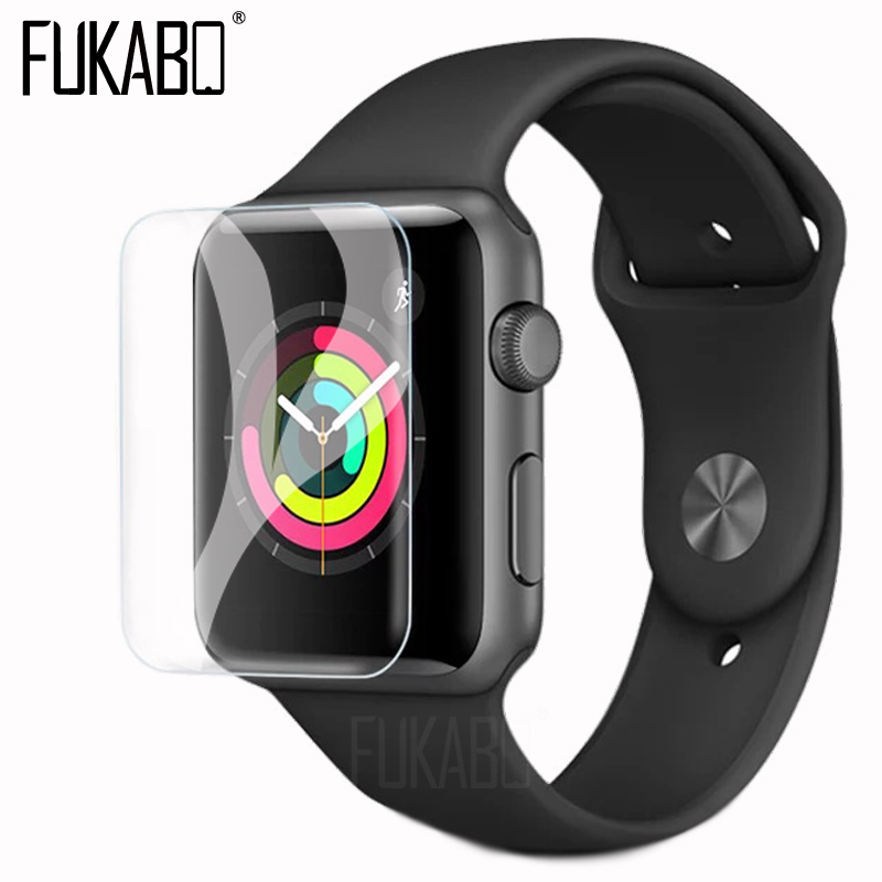 10D screen protection For Apple Watch Series 4 Watch 3 2 1 Protective Film For Apple Watch 4 3 2 1 38 40 42 44 MM HD Soft Film-in Phone Screen Protectors from Cellphones & Telecommunications