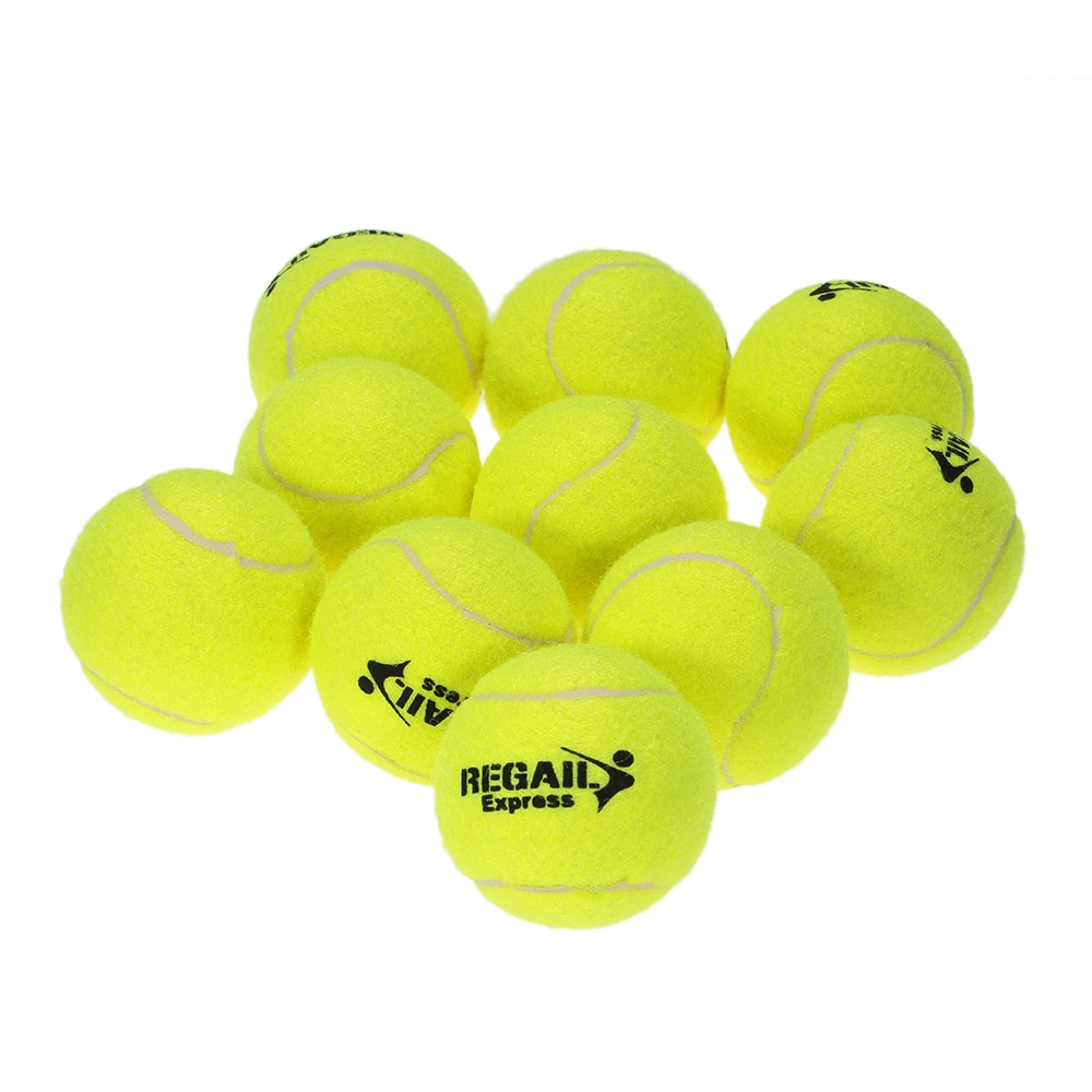 10pcs/bag Durable Rubber Training Tennis Balls For Children Women Tennis High Resilience Training Exercise Practice Tennis Ball