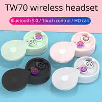 TW70 Wireless Headphones Bluetooth 5.0 earphone tws HIFI stereo earbuds Sport Handsfree Gaming Headset for iphone xiaomi huawei