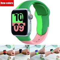 Cinturino sportivo per Apple Watch Black unit 44mm 40mm iWatch 38mm 42mm cinturino in Silicone per Apple Watch 2/3/4/5/6/SE