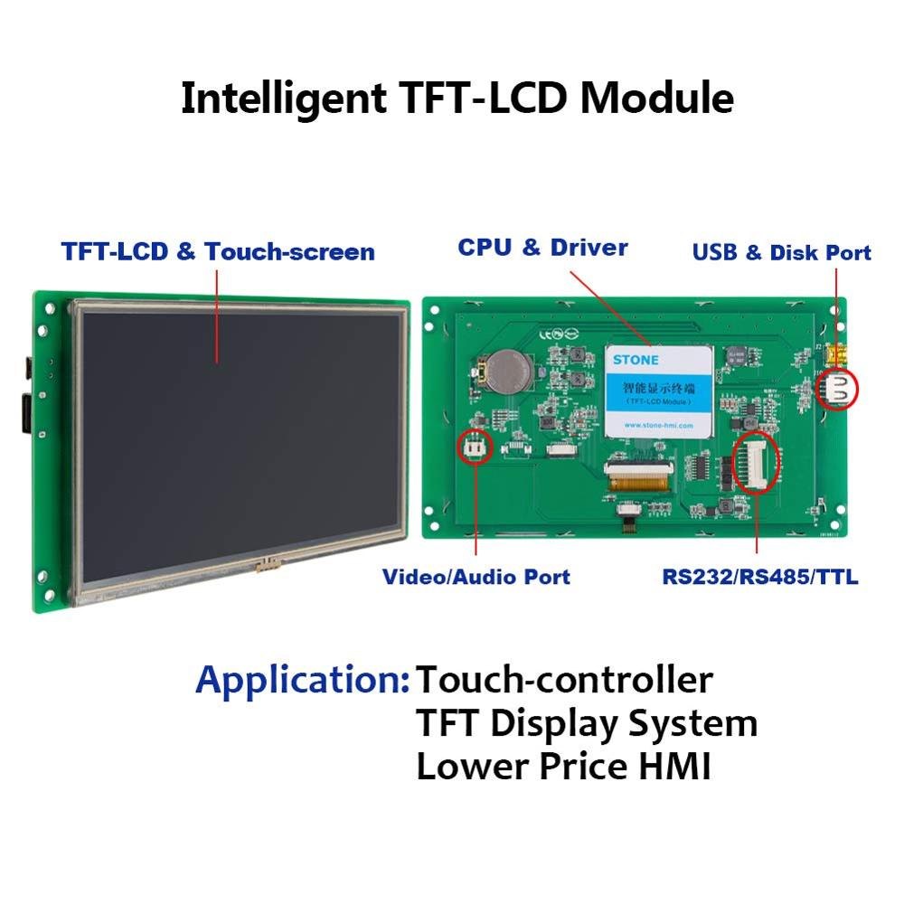 Image 4 - 4.3 inch HMI Color TFT LCD Display Module with Controller Board + Program for Instrument Panelmodule provideslcd dimodule rack -