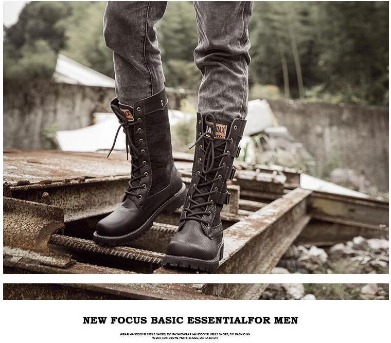 cinto gótico botas do punk sapatos masculinos bota do exército tático