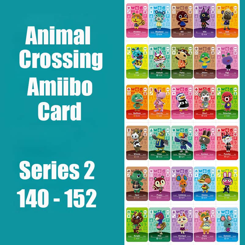 Series 2 (140 To 152) Animal Crossing Card Amiibo Locks Nfc Card Work For NS Games Series 2 (140 To 152) Amiibo Card