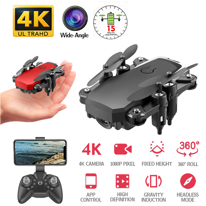 Foldable Mini Drone With Camera HD Quad Counter RC Helicopter With High Hold With RC Quadrocopter  VS E61 HS210 LF606 S9HW E016HRC Helicopters   -