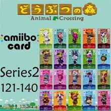 Пересечение животных подлинных данных новые горизонты игры Марио карты для NS переключатель 3DS игра набор NFC карт Ряда2 121-140 матовый материал