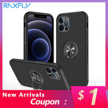 Raxfly Shockproof Phone Case For iphone 12 11 Pro Max X XR XS Max 8 7 6 Plus Ring Magnetic Car Phone Holder Back Cover Cases