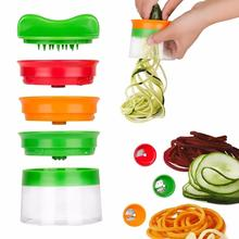 New Vegetable Fruit Spiral Slicer Cutter Spiralizer Grater Carrot Cucumber Courgette Zucchini Spaghetti Maker Dropship