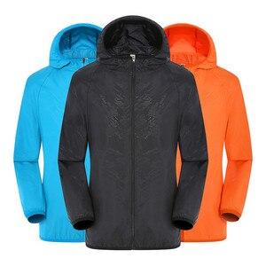 Image 1 - Men Women Adult Raincoat Men Women Casual Jackets Windproof Ultra Light Rainproof Windbreaker Top Environmental Rain Coat
